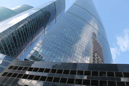 """Moscow / Russia-03.09.2019: Moscow City (Federation Tower and Mercury Tower). Moscow International Business Center (MIBC). Business centers. """"Federation Complex"""" Tower East and Tower West."""