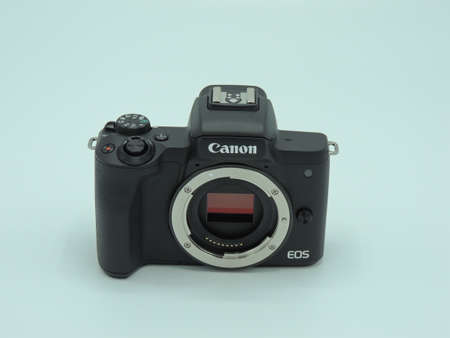 Canon EOS M50 mark ii (M50m2) Body black on white background. One of the best cameras for bloggers.