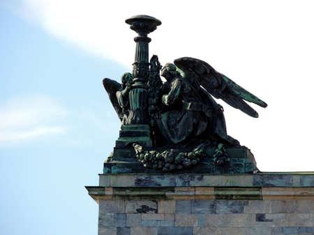 Sculptures on the buildings of St. Petersburg. Memorable sights of European sculptors. Reklamní fotografie