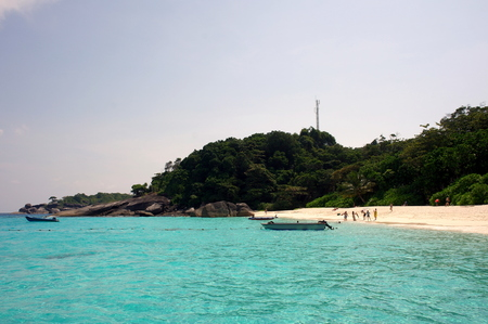 Similan Island Group view pont with crystal clear water, Similan National Park, Thailand
