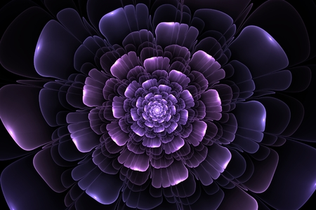 fractal pink: abstract fractal pink flower computer generated image Stock Photo