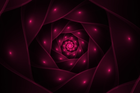 fractal pink: abstract spiral fractal pink computer generated image Stock Photo