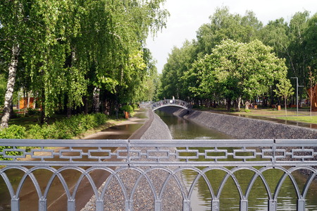tatarstan: The park of the Uritsky. Kazan. Republic of Tatarstan. Russia.