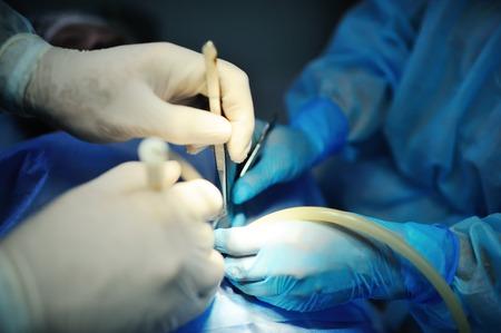Hand Chirurg macht eine Operation Nahaufnahme. chirurgische Instrumente Standard-Bild - 66526760