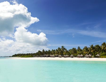 beach on the island, on the warm, turquoise, tropical ocean