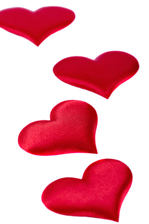 four red hearts Valentine