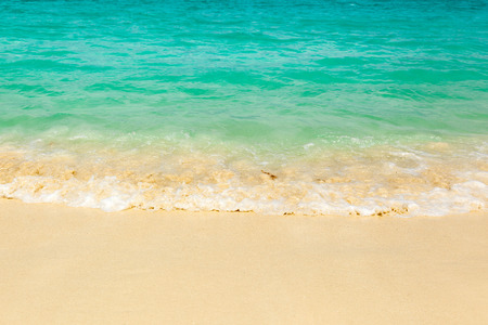 bahama: Surf on the beach in the turquoise waters of the Caribbean Ocean, the Maldives, the Bahamas, Hawaii