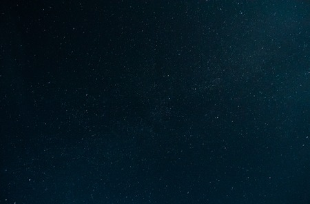 starfield: The stars in the night sky. Real photo. Stock Photo