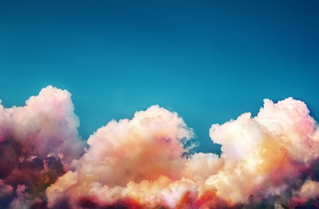 savers: Beautiful clouds with a color gradient.Abstract gradient. Place for text. Can be used for presentation and for savers and backgrounds. Stock Photo