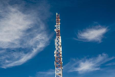 Cell tower and radio antenna. phone radio tower.