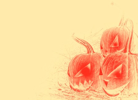 cucurbit: Illustration Pumpkin Lantern. Halloween pumpkin. Place for text.