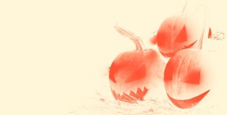 Illustration Pumpkin Lantern. Halloween pumpkin. Place for text.