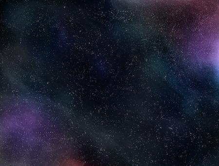 starry night: Cosmic fog. Open space .