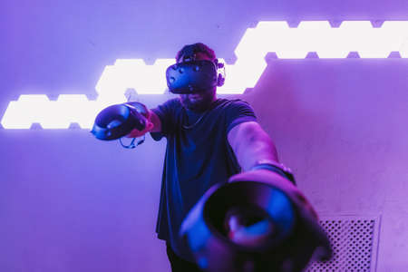 Augmented reality. New entertainment technologies. Virtual reality games.