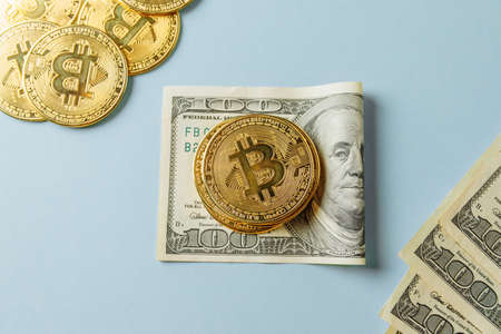 Confrontation of bitcoin and dollar.