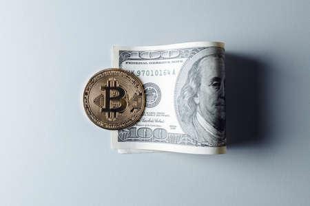 Bitcoin presses the dollar.