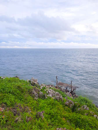 High angle view from a rocky beach in Gunung Kidul area