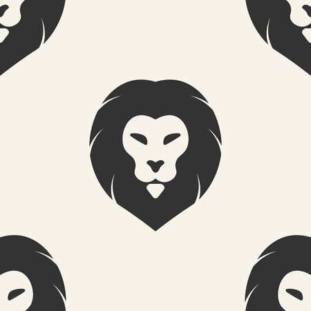 lion. seamless pattern Stock Illustratie