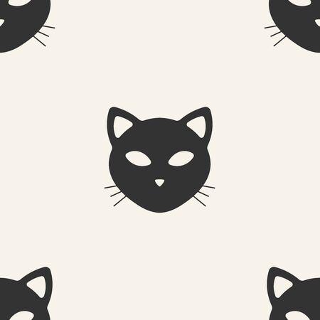 cat. seamless pattern