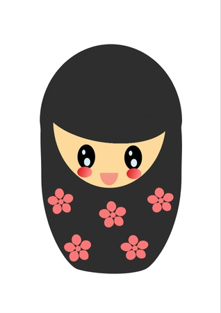 girl face with flower