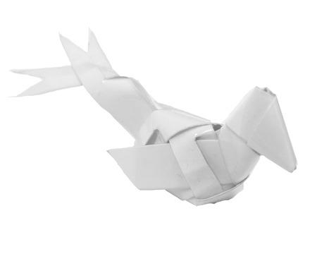 A bird weaving from  paper