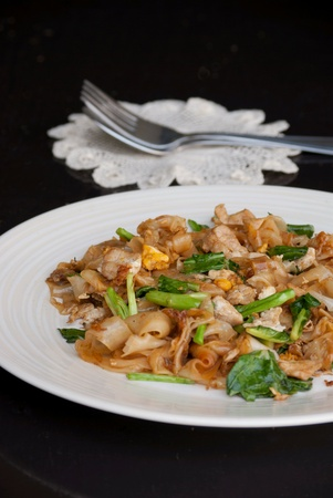 Fried rice noodle with soy sauce