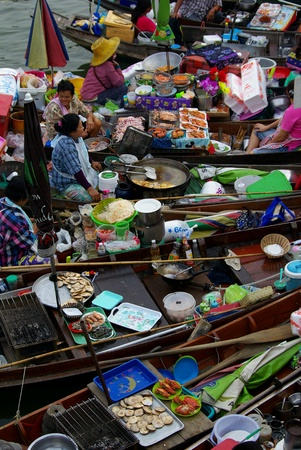 march� flottant: Le march� flottant, Ampawa, Tha�lande