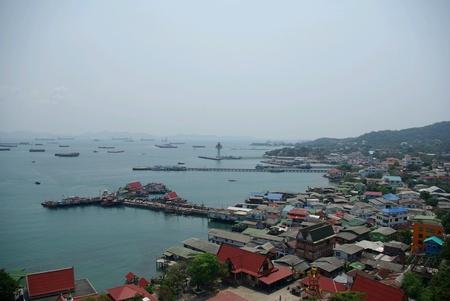 chang: Top view of Sree Chang Island,Thailand. Stock Photo