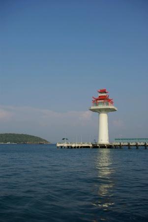 chang: Lights house of Sree Chang Island,Thailand.