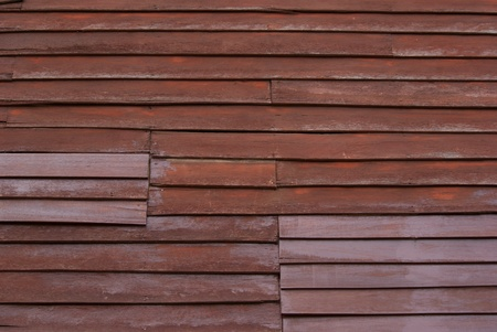 Wooden old style house wall in Thailand Stock Photo