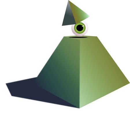 secret society: Pyramid with human eye Stock Photo