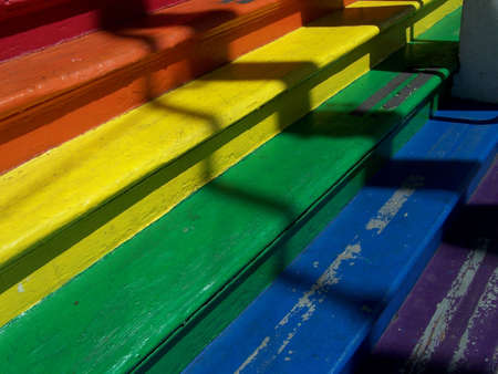 Rainbow painted steps in San Francisco
