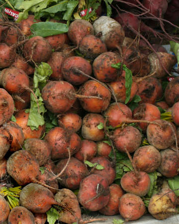 Beets for sale at an outdoor market