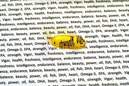 carotid: capsule of fish oil, omega 3 EPA, DHA