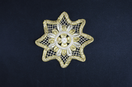 affiliation: Octagonal Christian star - gold, silver Stock Photo