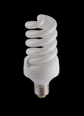 Energy-saving lamp isolated on black background