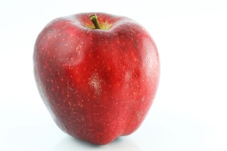 Red apple. Isolated on white