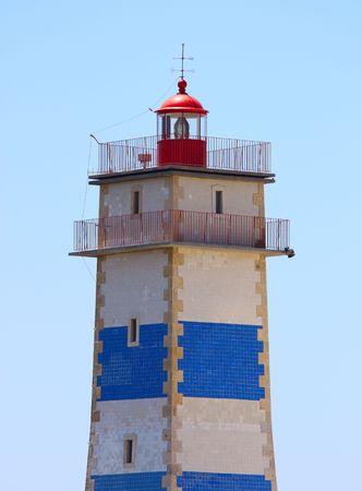Lighthouse, Cascais, Portugal Stock Photo