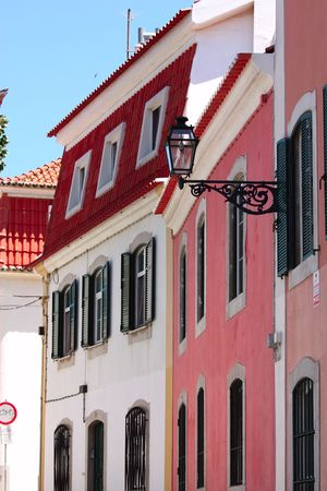 Traditional stone houses in the Cascais, Portugal