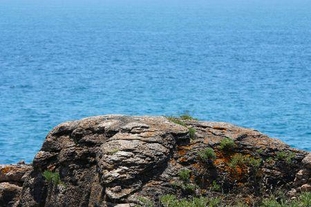 Sea landscape with stones