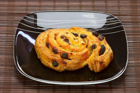 delicious bun  on plate