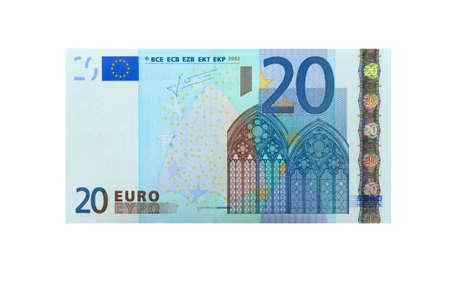 letra de cambio: 20 euros Foto de archivo