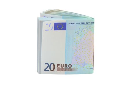 20 euro: 20 Euro banknotes, isolated