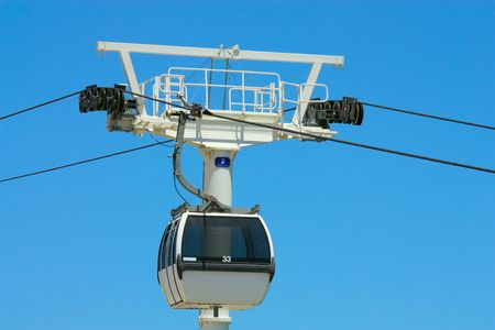 Passenger ropeway in Lisbon Portugal Stock Photo