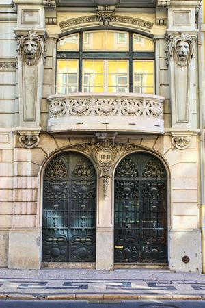 door of an old building