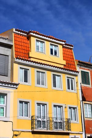 traditional and residential building in Lisbon