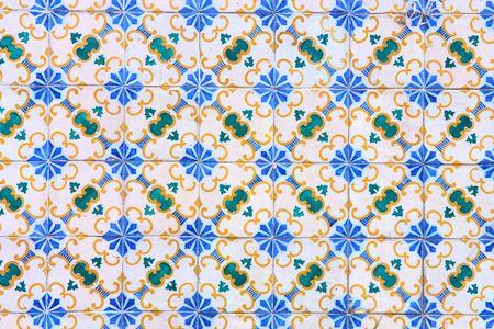 Vintage tiles from Lisbon, Portugal photo