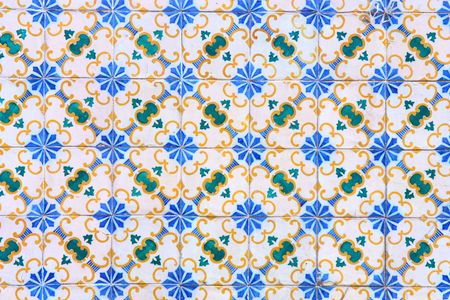 Vintage tiles from Lisbon, Portugal photo