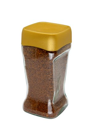 Instant coffee in glass bank-fragrant