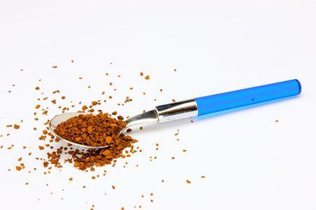 A teaspoon of instant coffee photo